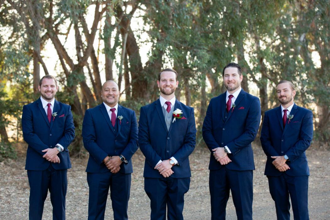 Groomsmen, Blue tuxedos, California Wedding