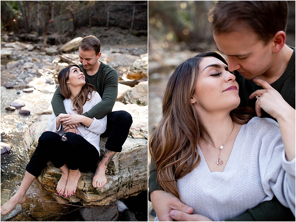 Cuddly engagement photos