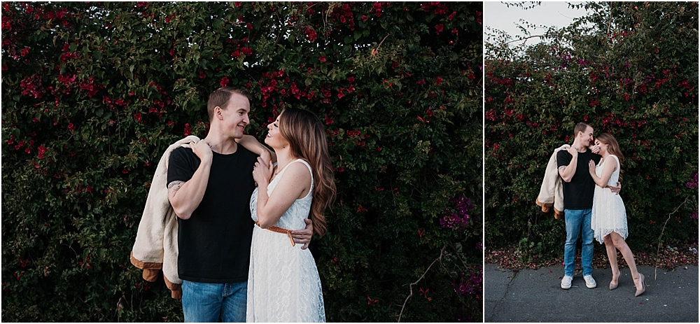 bougainvillea models engaged couple